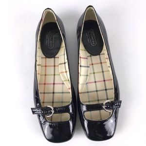 {Coach} Ellyce Patent Leather Mary Janes Size 6.5B
